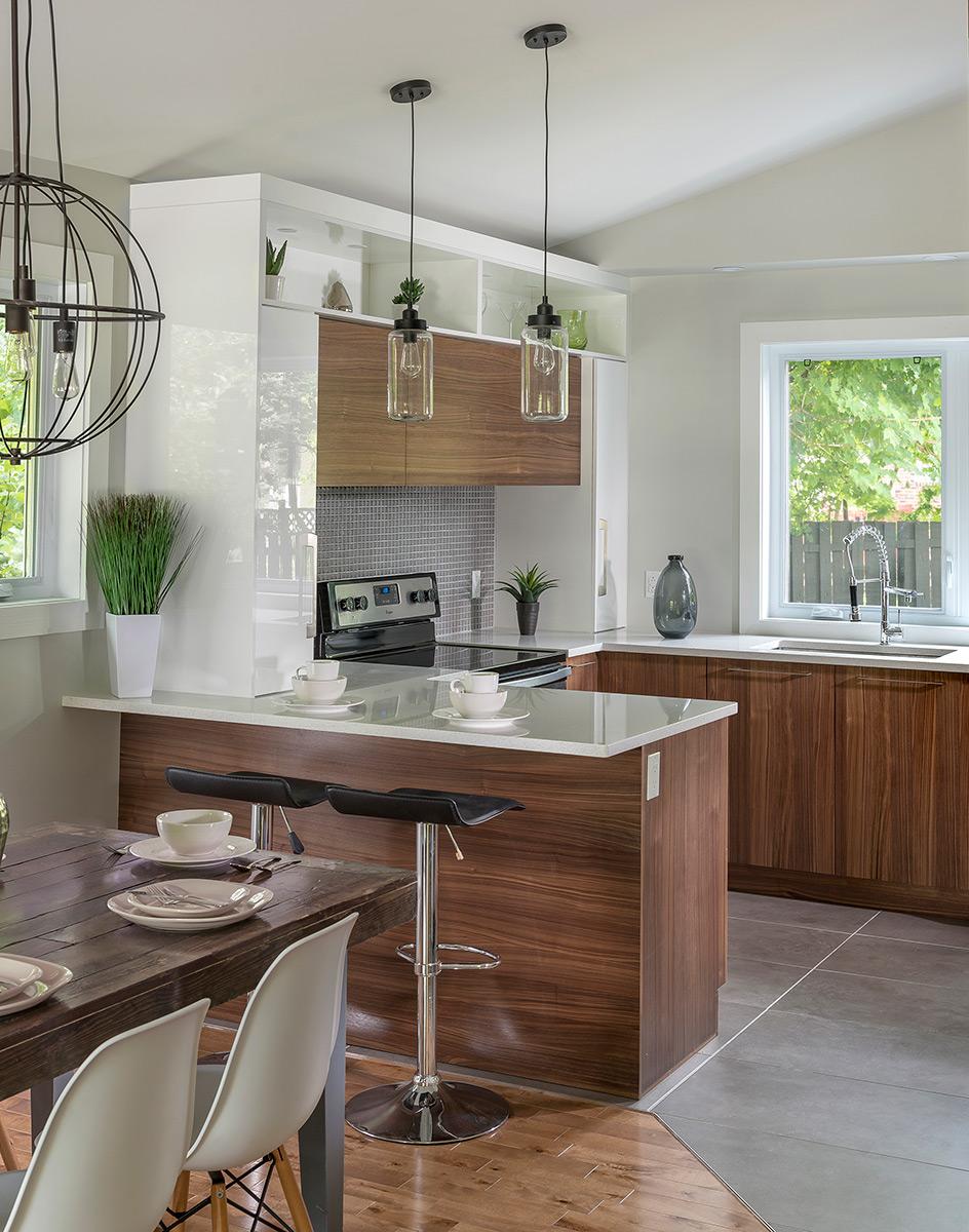 Cuisine design petit espace cuisine ouverte salon petit for Cuisine americaine petit espace
