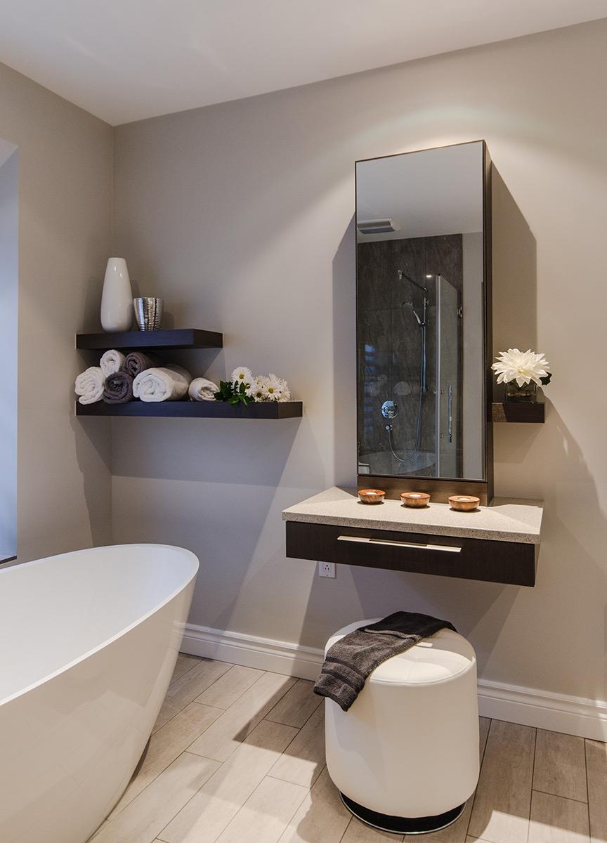 Projet salle de bains lumi re et l g ret armodec for Projet salle de bain