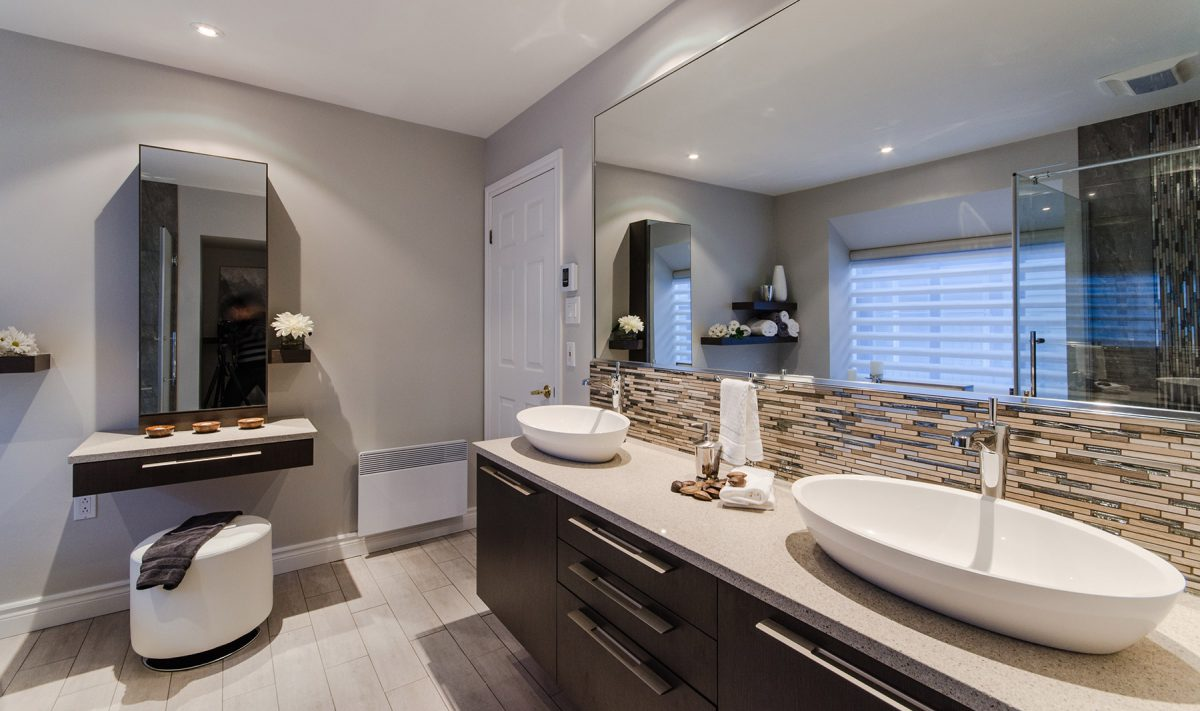 Armoires de cuisine de salle de bain sur mesure armodec - Vanite salle de bain contemporaine ...