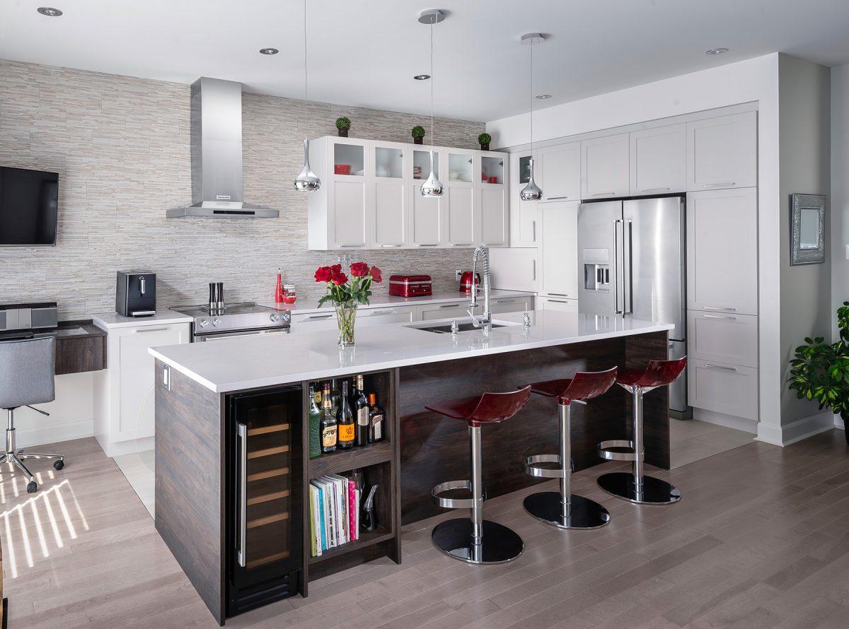 Armoires de cuisine de salle de bain sur mesure armodec for Accessoires de cuisine montreal