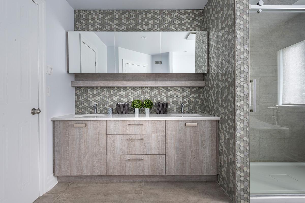 Salle De Bain Motif salle de bain moderne en laminé européen | armodec laval