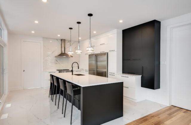 <span class='header-title'>Contemporary kitchen</span> Clean and inviting