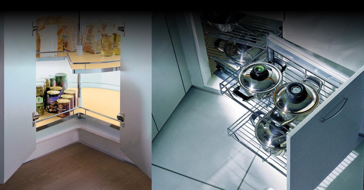 Un rangement optimal pour une cuisine ouverte harmonieuse.